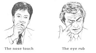 Nose Touching and Eye Rub Gesture
