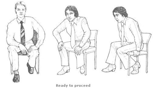 Seated Readiness Gestures