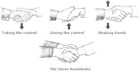 Shaking the hands